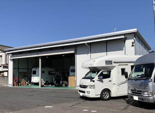 キャンピングカー対応の設備、常駐の専門スタッフ
